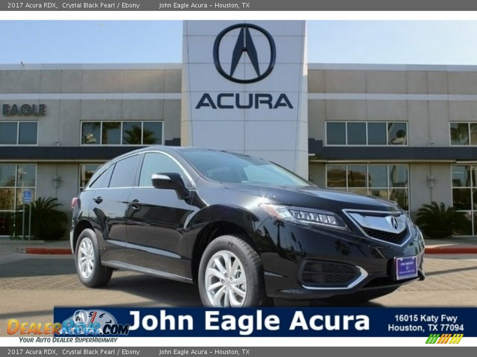 2017 Acura RDX Crystal Black Pearl / Ebony Photo #1