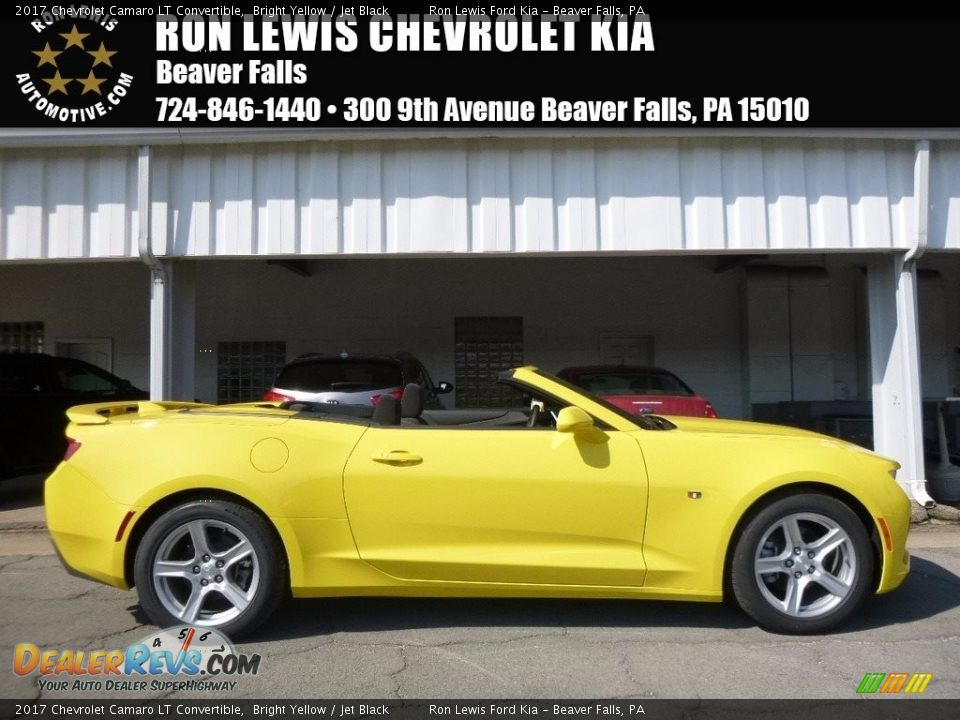 2017 Chevrolet Camaro LT Convertible Bright Yellow / Jet Black Photo #1