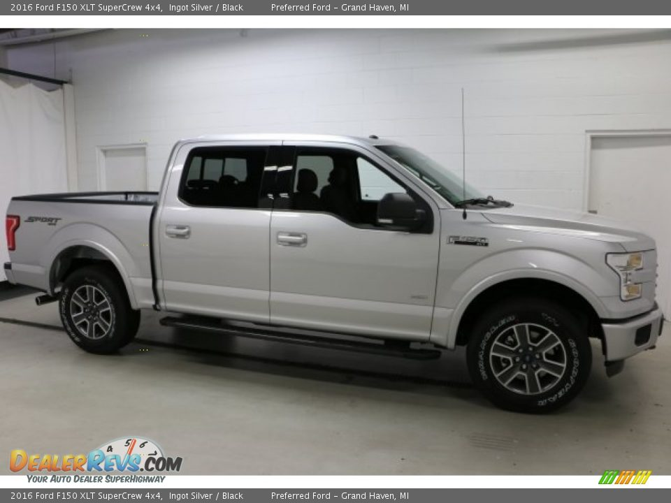 2016 Ford F150 XLT SuperCrew 4x4 Ingot Silver / Black Photo #1