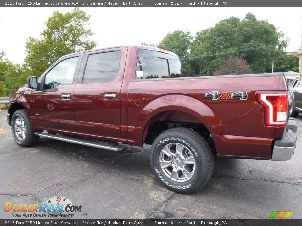 2016 Ford F150 Limited SuperCrew 4x4 Bronze Fire / Medium Earth Gray Photo #3