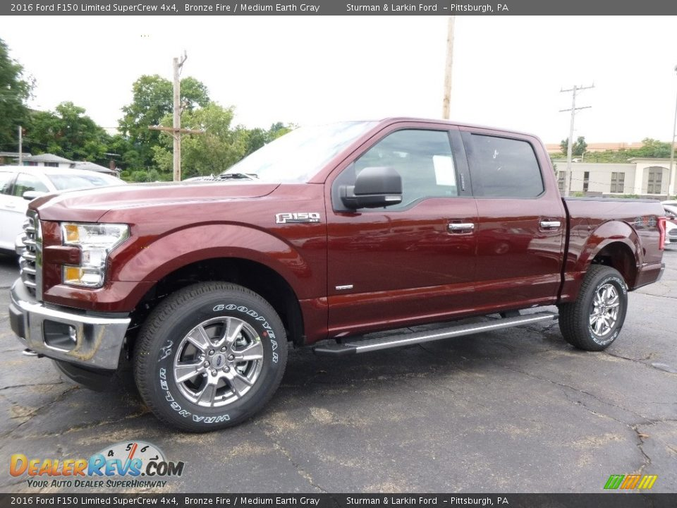 2016 Ford F150 Limited SuperCrew 4x4 Bronze Fire / Medium Earth Gray Photo #4