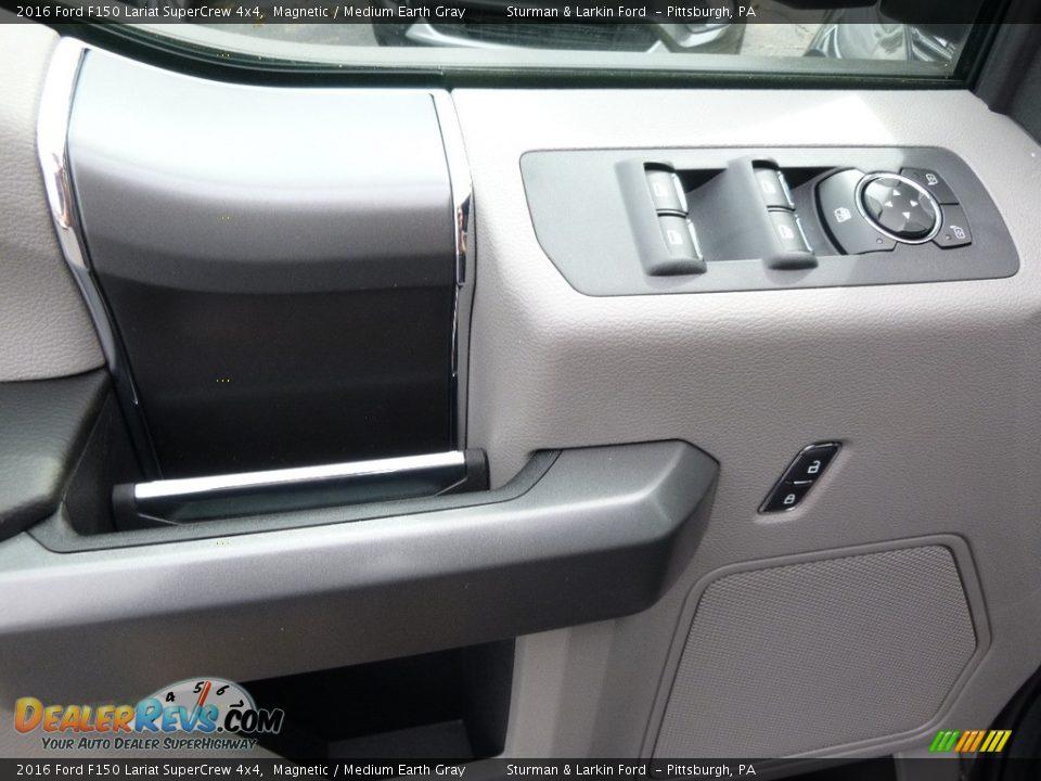 2016 Ford F150 Lariat SuperCrew 4x4 Magnetic / Medium Earth Gray Photo #9