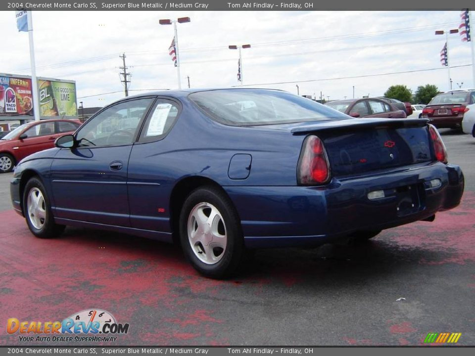 2004 chevrolet monte carlo ss superior blue metallic. Black Bedroom Furniture Sets. Home Design Ideas