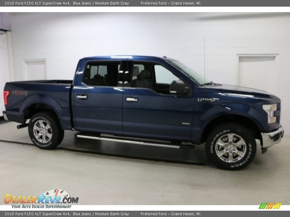 2016 Ford F150 XLT SuperCrew 4x4 Blue Jeans / Medium Earth Gray Photo #1