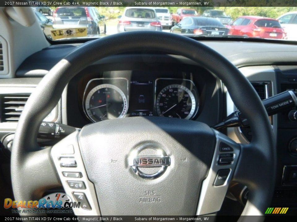 2017 Nissan TITAN XD SV Crew Cab 4x4 Magnetic Black / Black Photo #20