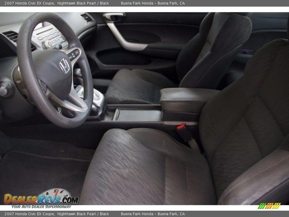 2007 Honda Civic EX Coupe Nighthawk Black Pearl / Black Photo #3
