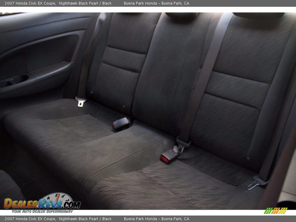 2007 Honda Civic EX Coupe Nighthawk Black Pearl / Black Photo #4