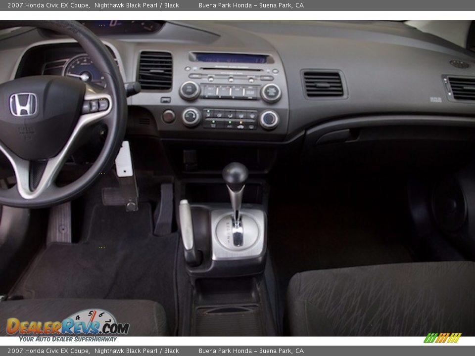 2007 Honda Civic EX Coupe Nighthawk Black Pearl / Black Photo #5