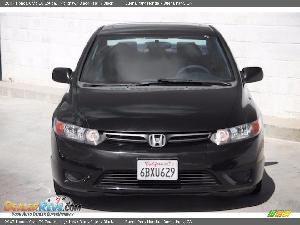 2007 Honda Civic EX Coupe Nighthawk Black Pearl / Black Photo #7