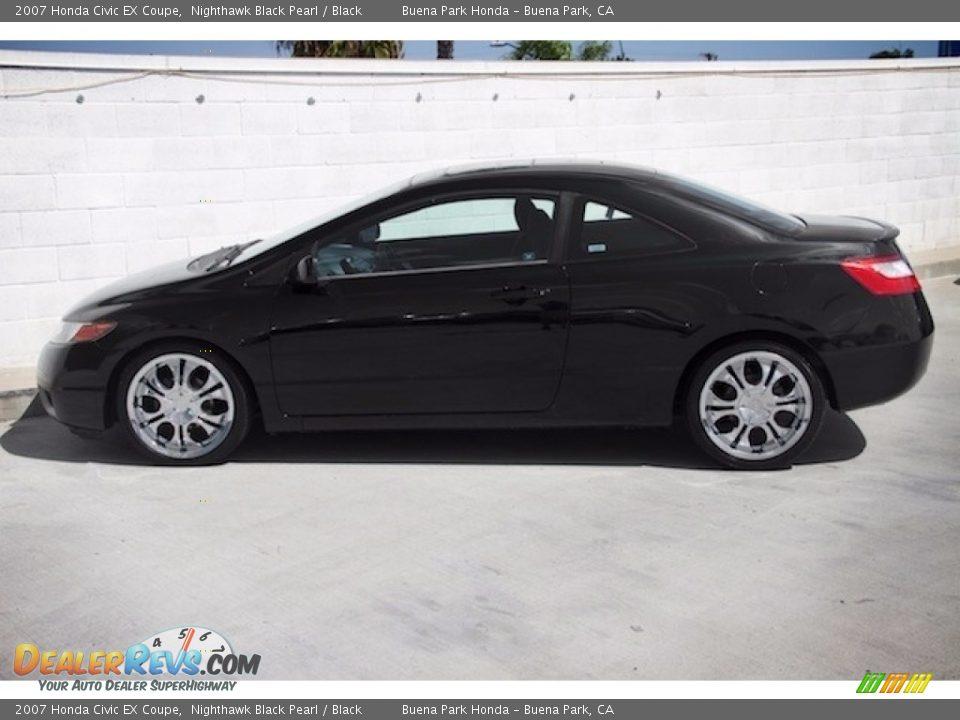 2007 Honda Civic EX Coupe Nighthawk Black Pearl / Black Photo #10
