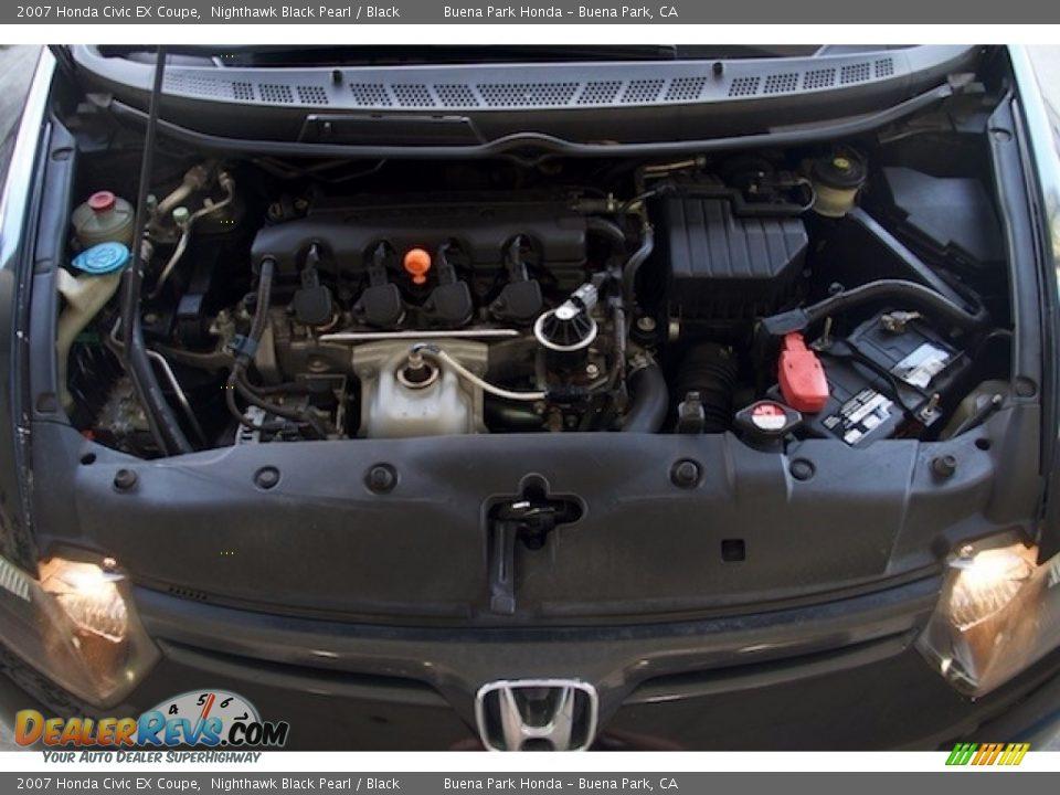 2007 Honda Civic EX Coupe Nighthawk Black Pearl / Black Photo #20