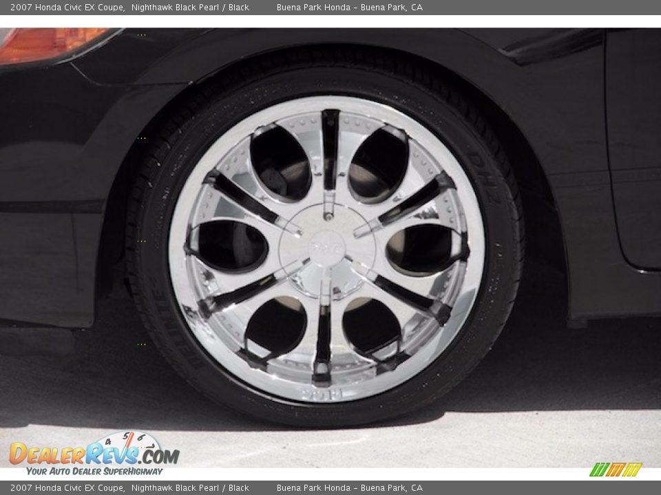 2007 Honda Civic EX Coupe Nighthawk Black Pearl / Black Photo #22