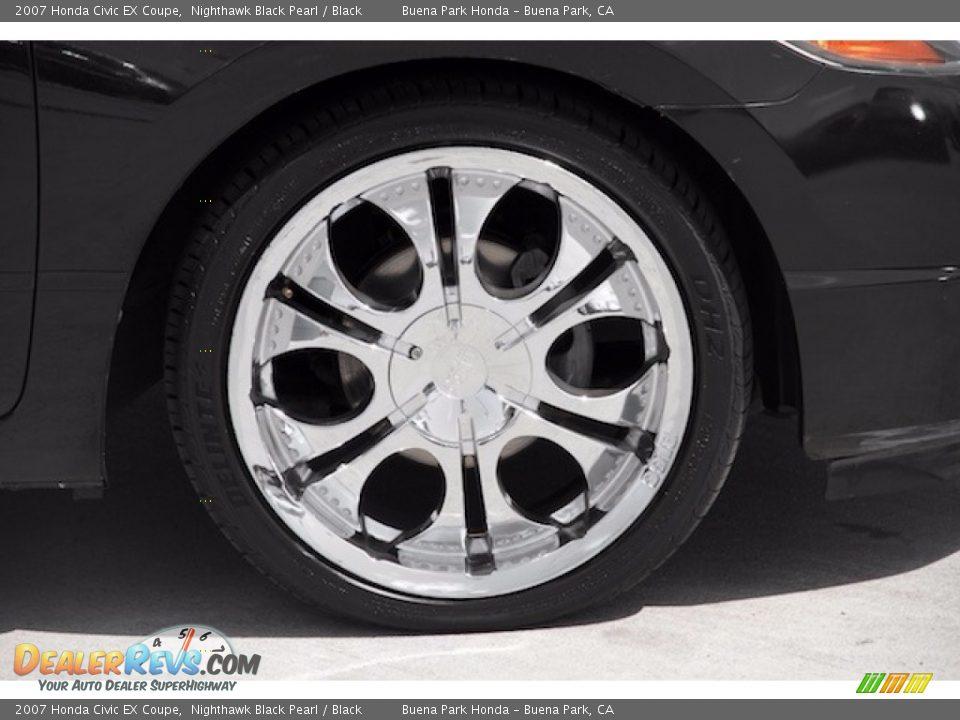 2007 Honda Civic EX Coupe Nighthawk Black Pearl / Black Photo #23