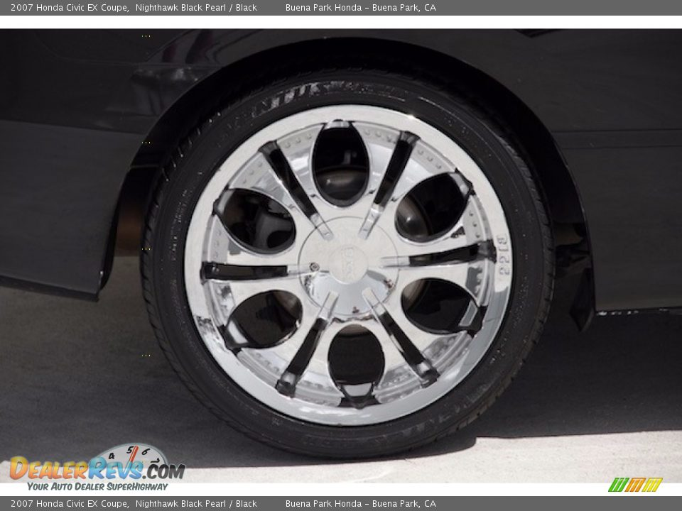2007 Honda Civic EX Coupe Nighthawk Black Pearl / Black Photo #24