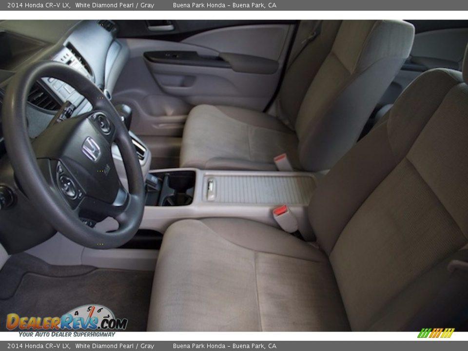 2014 Honda CR-V LX White Diamond Pearl / Gray Photo #3