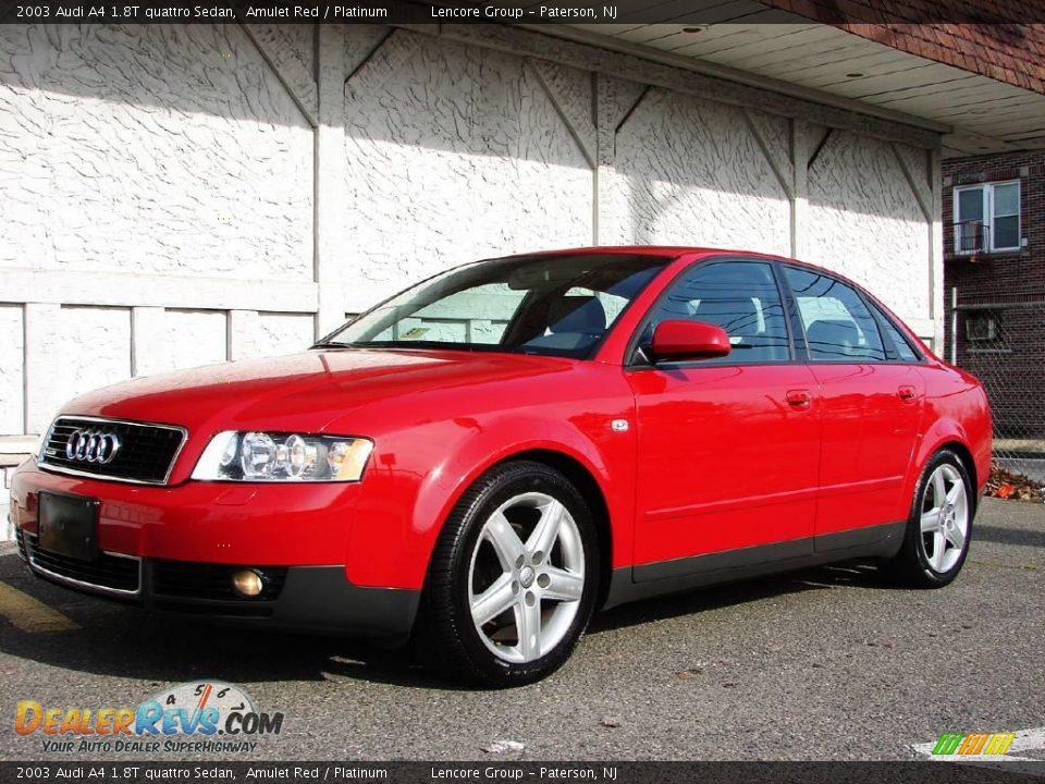 2003 Audi A4 1 8t Quattro Sedan Amulet Red Platinum