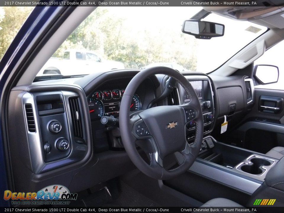 2017 Chevrolet Silverado 1500 LTZ Double Cab 4x4 Deep Ocean Blue Metallic / Cocoa/Dune Photo #10