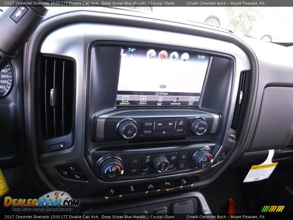 2017 Chevrolet Silverado 1500 LTZ Double Cab 4x4 Deep Ocean Blue Metallic / Cocoa/Dune Photo #17