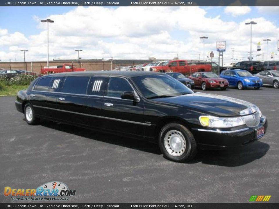 2000 lincoln town car executive limousine black deep charcoal photo 2. Black Bedroom Furniture Sets. Home Design Ideas