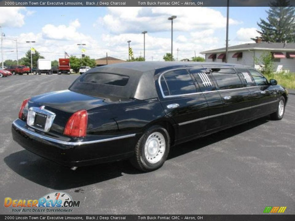 2000 lincoln town car executive limousine black deep charcoal photo 6. Black Bedroom Furniture Sets. Home Design Ideas