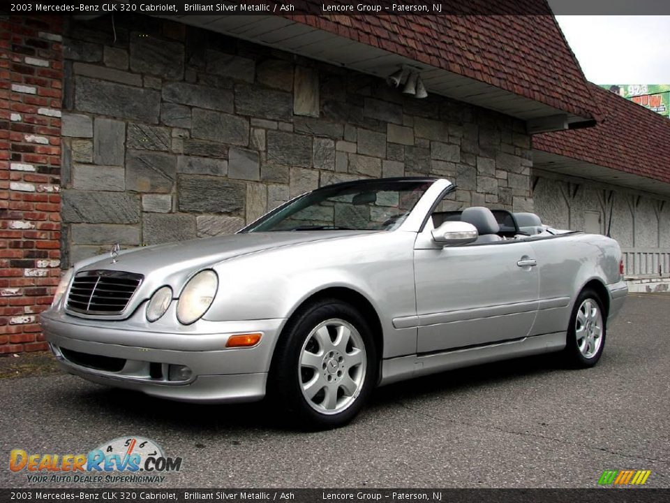 2003 mercedes benz clk 320 cabriolet brilliant silver metallic ash photo 8. Black Bedroom Furniture Sets. Home Design Ideas