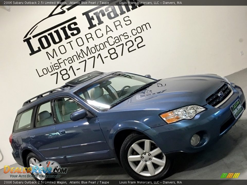 2006 Subaru Outback 2.5i Limited Wagon Atlantic Blue Pearl / Taupe Photo #2