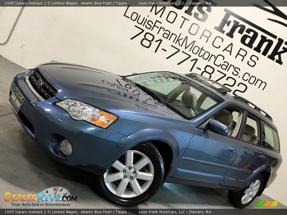 2006 Subaru Outback 2.5i Limited Wagon Atlantic Blue Pearl / Taupe Photo #4