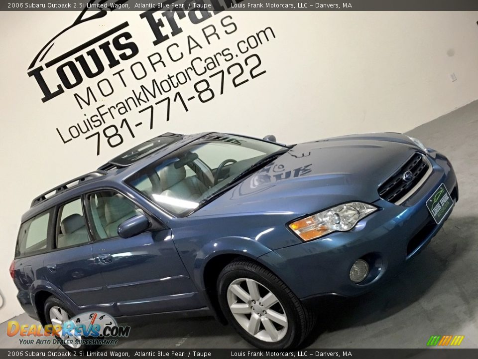 2006 Subaru Outback 2.5i Limited Wagon Atlantic Blue Pearl / Taupe Photo #10