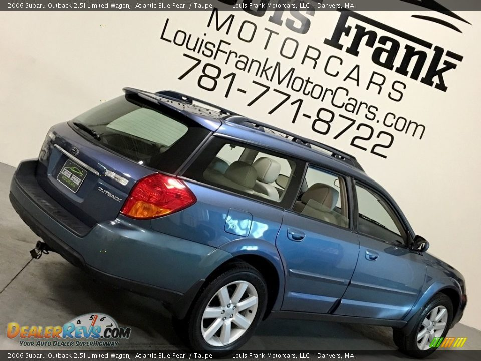 2006 Subaru Outback 2.5i Limited Wagon Atlantic Blue Pearl / Taupe Photo #12