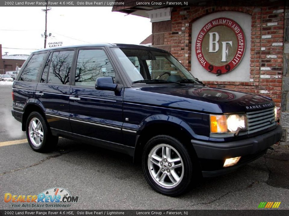 2002 land rover range rover 4 6 hse oslo blue pearl lightstone photo 4. Black Bedroom Furniture Sets. Home Design Ideas