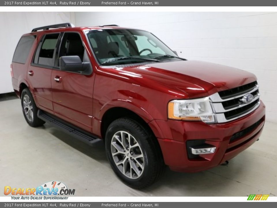 2017 Ford Expedition XLT 4x4 Ruby Red / Ebony Photo #12