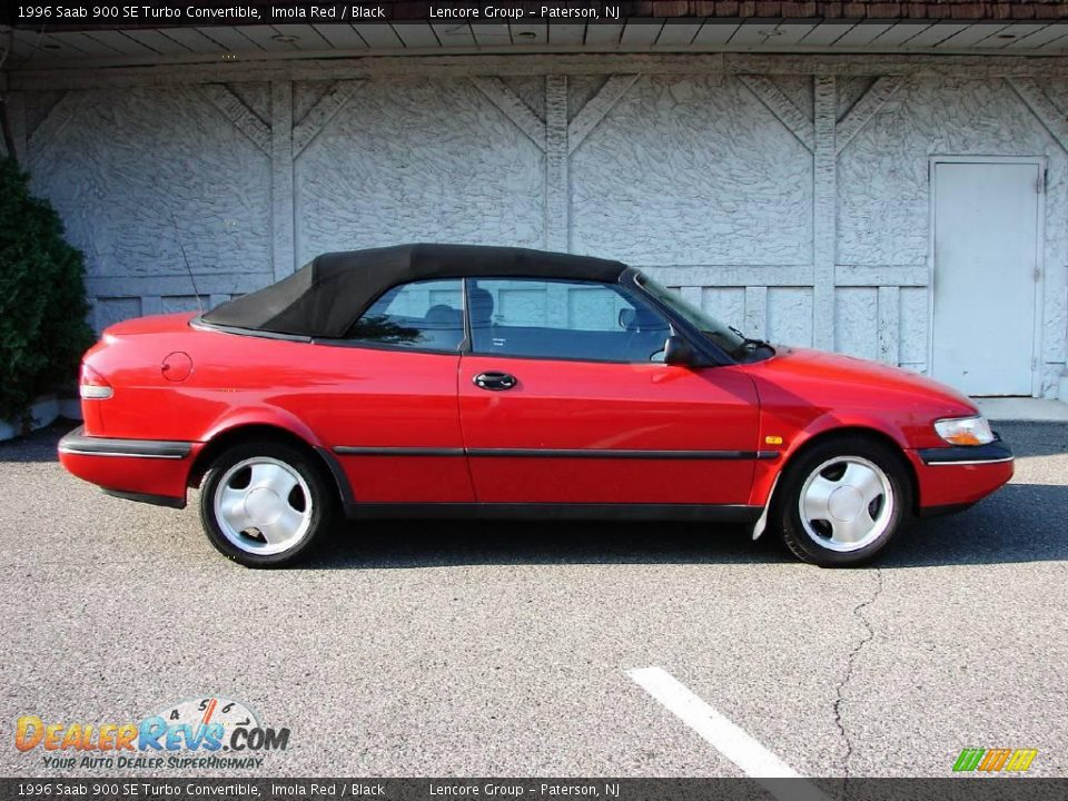 1996 saab 900 se turbo convertible imola red black photo. Black Bedroom Furniture Sets. Home Design Ideas