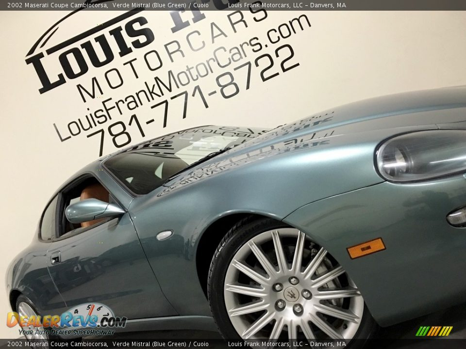 2002 Maserati Coupe Cambiocorsa Verde Mistral (Blue Green) / Cuoio Photo #22