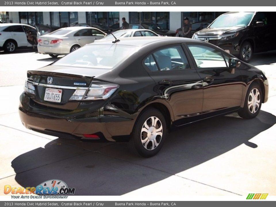 2013 Honda Civic Hybrid Sedan Crystal Black Pearl / Gray Photo #11