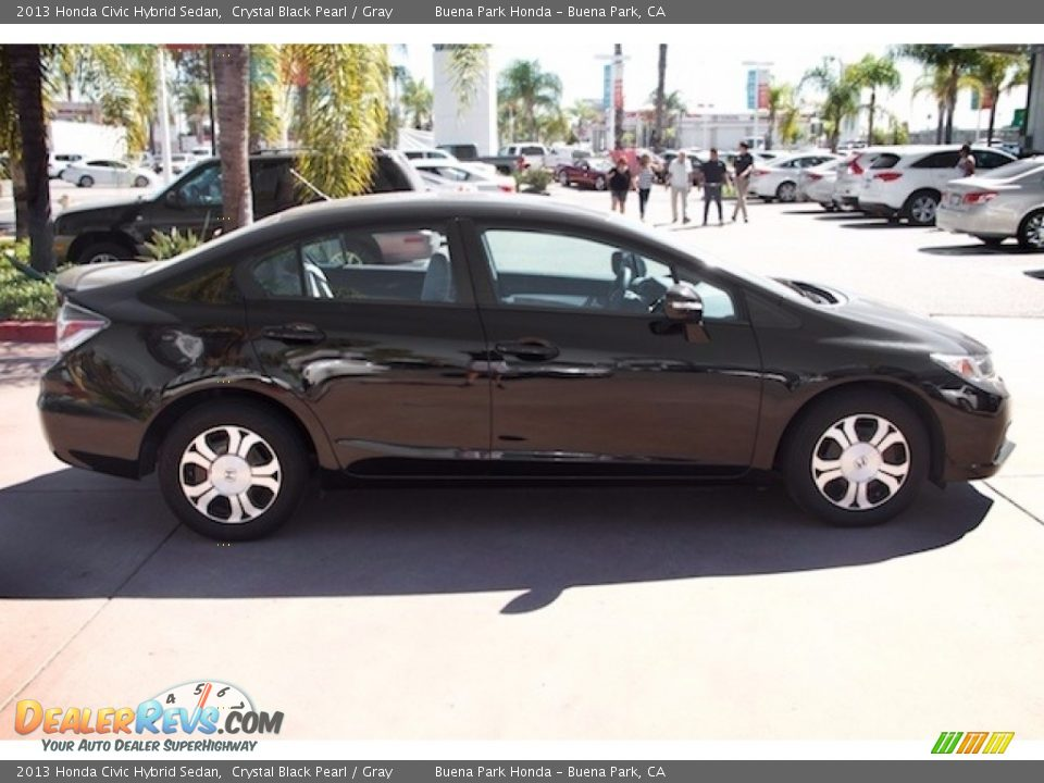 2013 Honda Civic Hybrid Sedan Crystal Black Pearl / Gray Photo #12