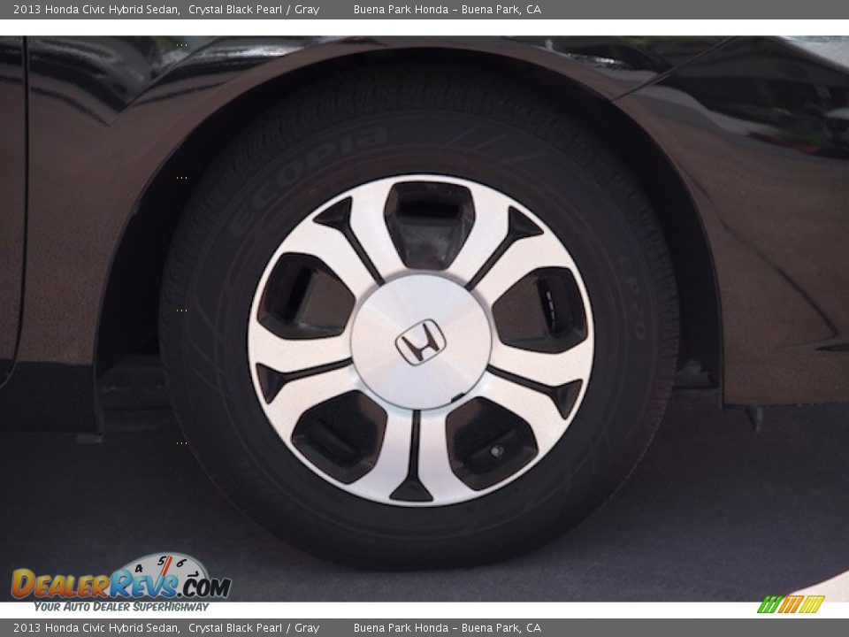2013 Honda Civic Hybrid Sedan Crystal Black Pearl / Gray Photo #30