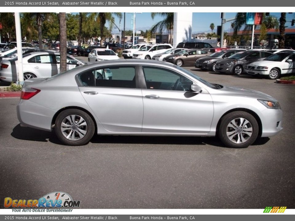 2015 Honda Accord LX Sedan Alabaster Silver Metallic / Black Photo #12