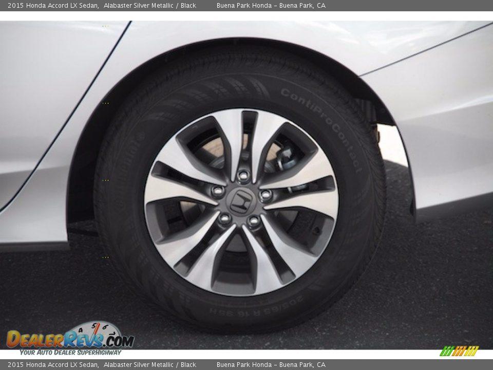 2015 Honda Accord LX Sedan Alabaster Silver Metallic / Black Photo #29
