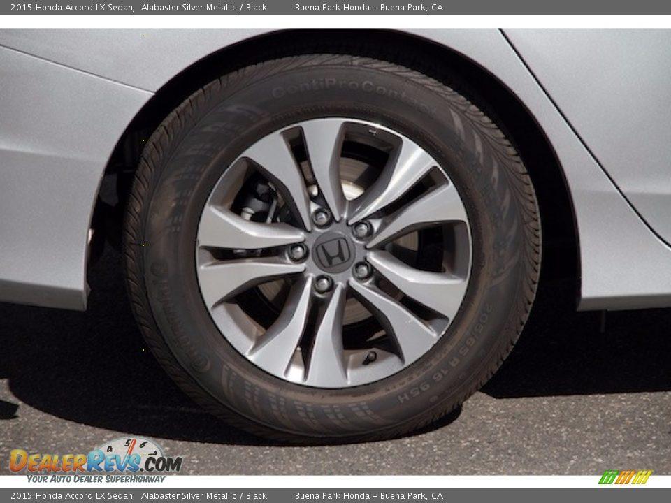 2015 Honda Accord LX Sedan Alabaster Silver Metallic / Black Photo #30