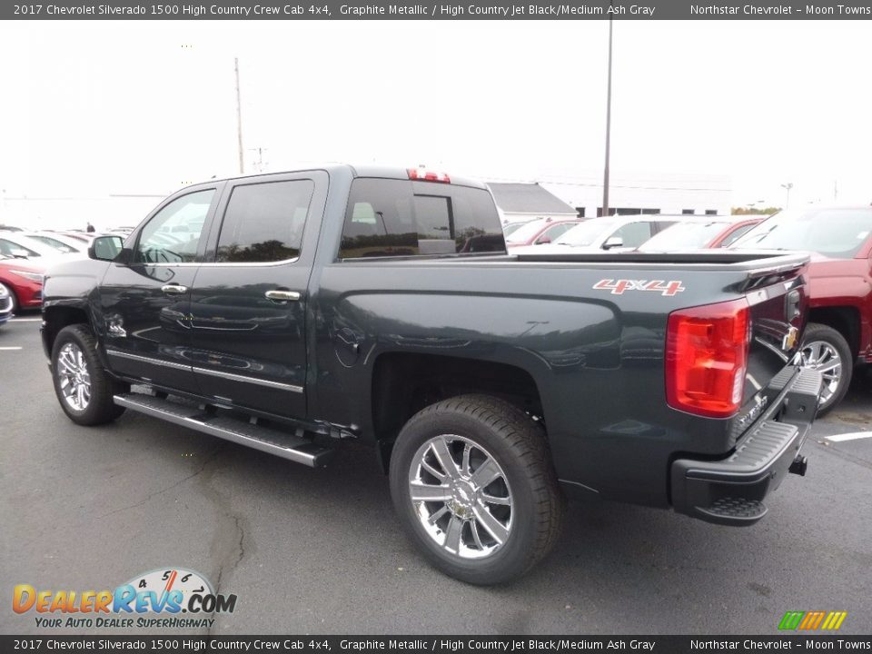 2017 Chevrolet Silverado 1500 High Country Crew Cab 4x4 Graphite Metallic / High Country Jet Black/Medium Ash Gray Photo #7