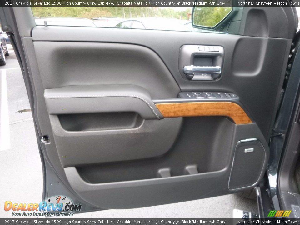 Door Panel of 2017 Chevrolet Silverado 1500 High Country Crew Cab 4x4 Photo #13