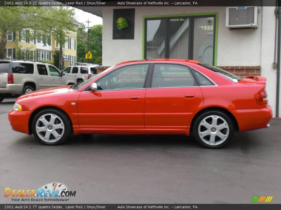 2001 Audi S4 2 7t Quattro Sedan Laser Red Onyx Silver