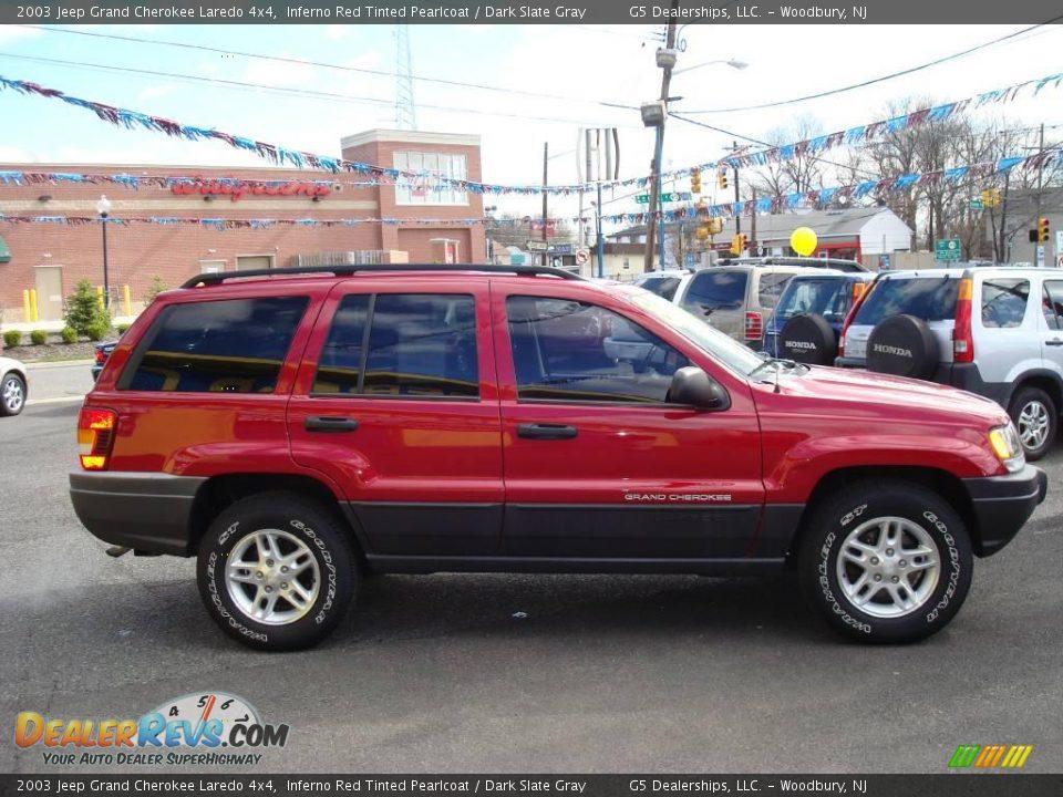2003 jeep grand cherokee laredo 4x4 inferno red tinted pearlcoat dark slate gray photo 4