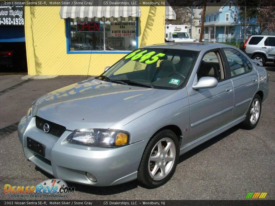 2003 nissan sentra se r molten silver stone gray photo 1. Black Bedroom Furniture Sets. Home Design Ideas