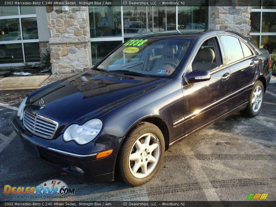 2003 mercedes benz c 240 4matic sedan midnight blue ash for Mercedes benz 240