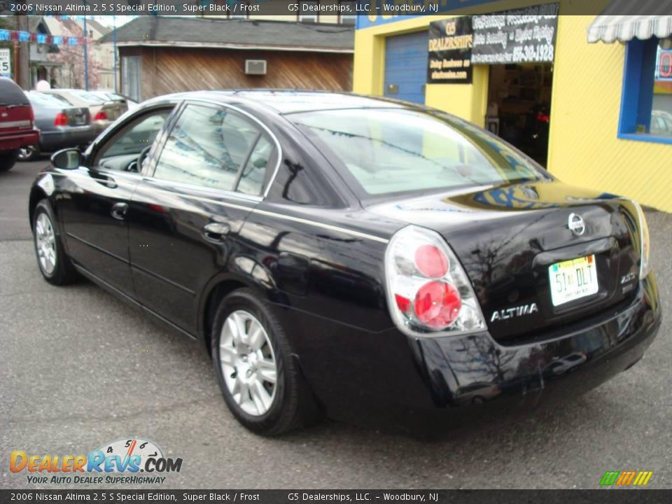 2006 nissan altima 2 5 s special edition super black. Black Bedroom Furniture Sets. Home Design Ideas