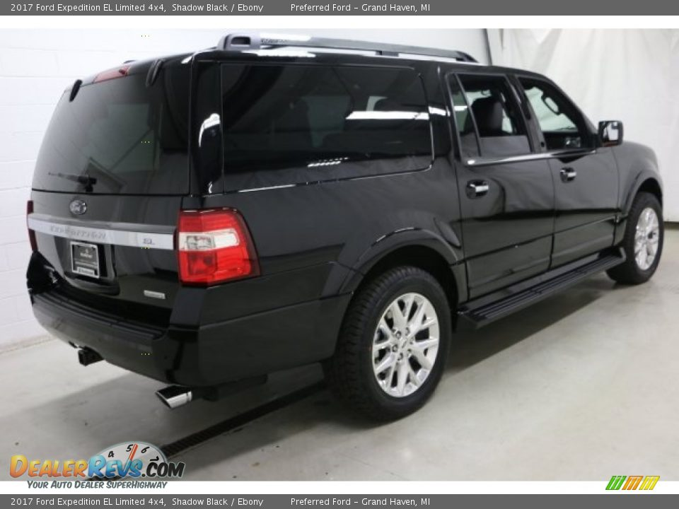 2017 Ford Expedition EL Limited 4x4 Shadow Black / Ebony Photo #13