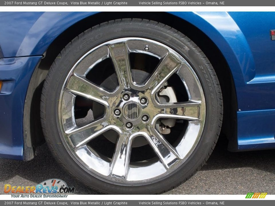 2007 Ford Mustang GT Deluxe Coupe Vista Blue Metallic / Light Graphite Photo #3
