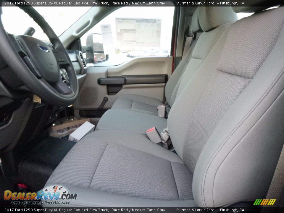 Medium Earth Gray Interior - 2017 Ford F250 Super Duty XL Regular Cab 4x4 Plow Truck Photo #8