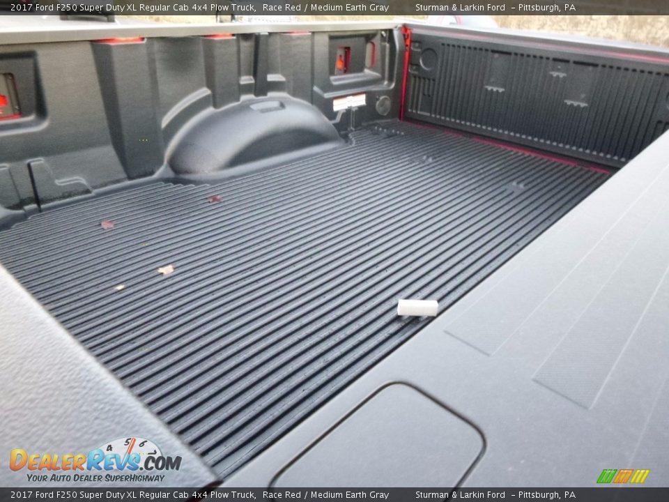 2017 Ford F250 Super Duty XL Regular Cab 4x4 Plow Truck Race Red / Medium Earth Gray Photo #9